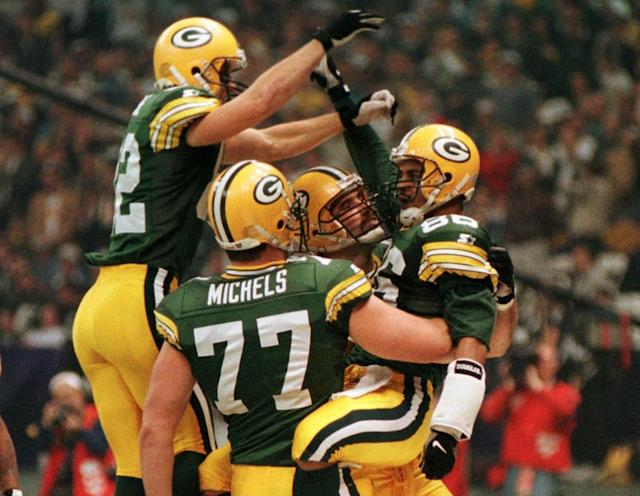 John Michels didn't start Super Bowl XXXI, but he was able to celebrate the victory with his Packers teammates. (Reuters)