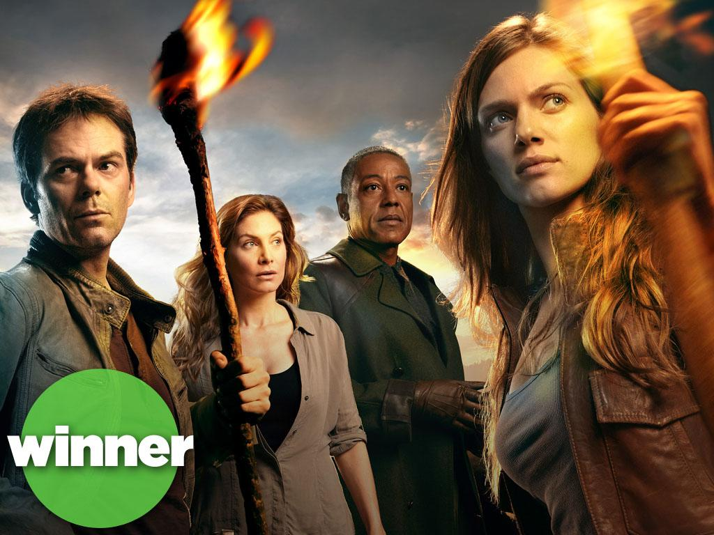"<b>WINNER: ""Revolution"" (NBC) </b><br><br>The Peacock Network has struggled for years to climb out of the ratings basement, but they hit upon a winning formula with ""Revolution."" (And that formula is ""'The Walking Dead' without all that gross zombie stuff,"" apparently.) Set in a post-apocalyptic wasteland with no electricity, NBC's sword-swinging freshman drama takes advantage of viewers' current appetite for genre fare (and a comfy timeslot after ""The Voice"") to pull in 8 million viewers a week, making it the one unquestioned new hit of the fall season."