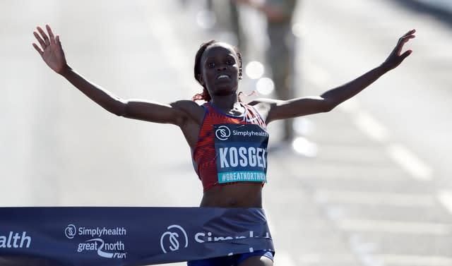 Brigid Kosgei shattered Paula Radcliffe's marathon world record (Richard Sellers/PA)