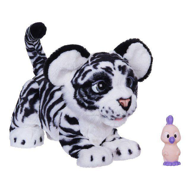 """This furry friend, known as<a href=""""https://www.toysrus.com/product?productId=137246786"""" target=""""_blank"""">the FurReal Roarin' Ivory The Playful Tiger Pet</a>, is one of Toys R Us' choices for toys to pick up this holiday season."""