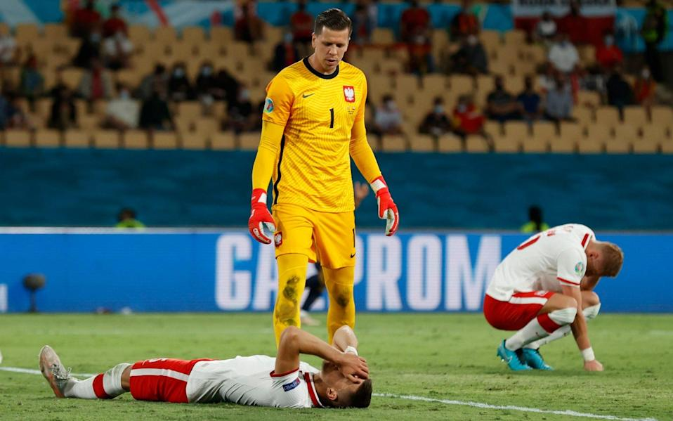 Wojciech Szczesny tries to marshal his exhausted defence - REUTERS