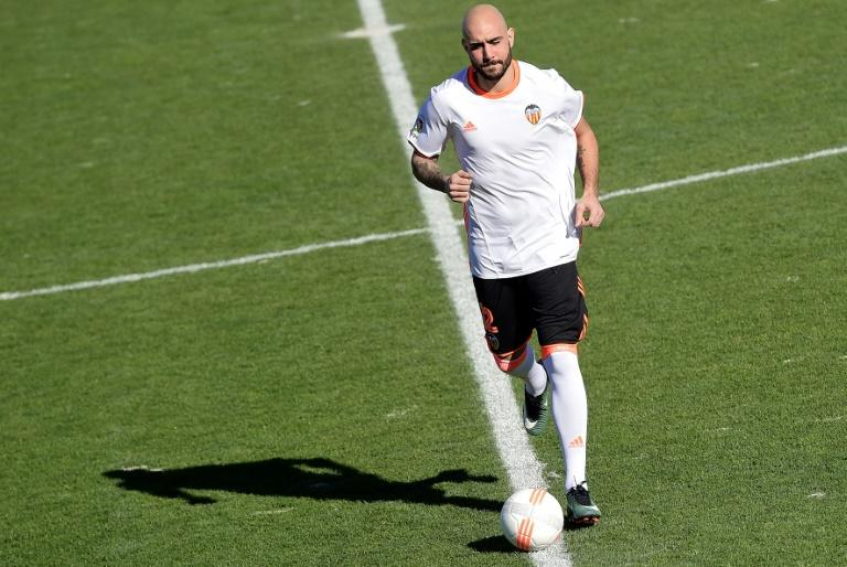 Valencia's Simone Zaza, pictured in January 2017, bagged a hat-trick against Malaga