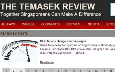 The Temasek Review team has decided to close down the site after July. (Screengrab)