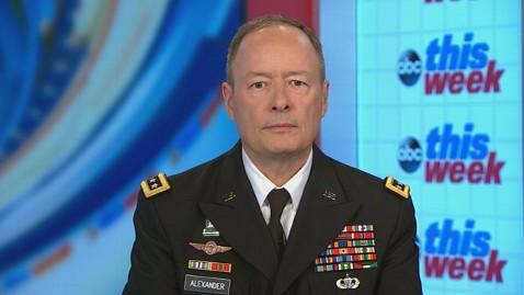 abc keith alexander this week jt 130623 wblog NSA Chief Keith Alexander: System Did Not Work As It Should Have to Prevent Snowden Document Leaks