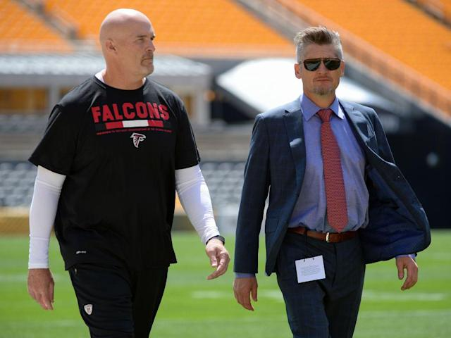 Dan Quinn and Thomas Dimitroff will be in Atlanta for a few more years. (Getty)