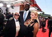 WWE wrestler Ric Flair, former NBA player Shaquille O'Neal and WWE Diva Charlotte attend the 2016 ESPYS at Microsoft Theater on July 13, 2016 in Los Angeles, California. (Photo by Kevin Winter/Getty Images)