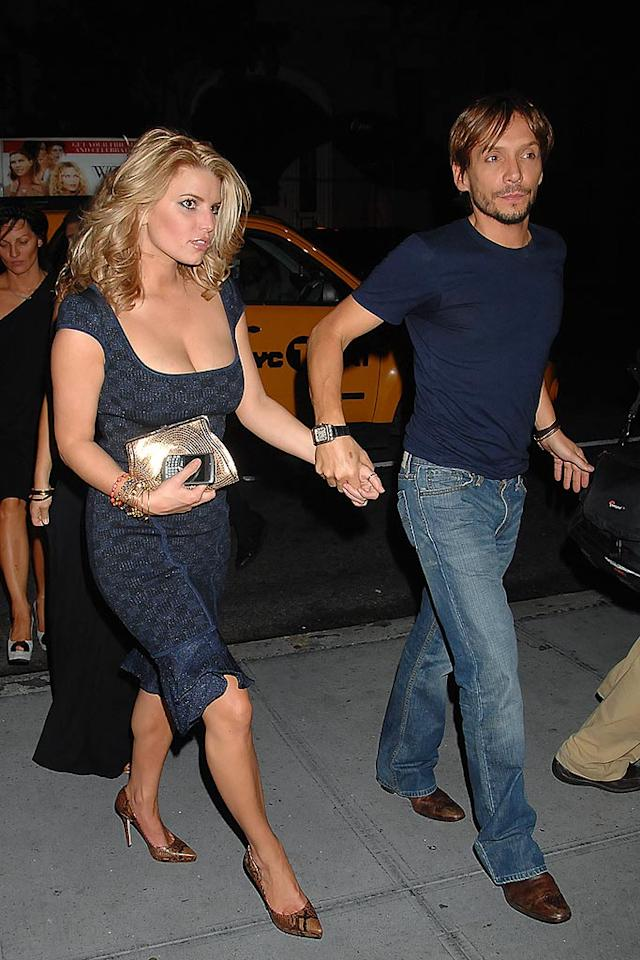 "Jessica Simpson and her constant companion, hairstylist-to-the-stars Ken Paves, love to hit the club scene together. Demis Maryannakis/<a href=""http://www.splashnewsonline.com"" target=""new"">Splash News</a> - September 8, 2008"