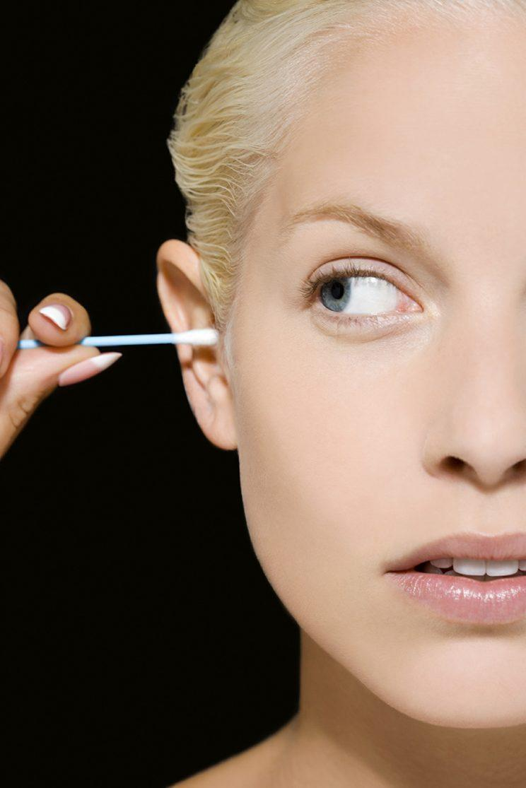 Step away from the cotton swab and stop putting things in your ears. (Photo: Getty Images)