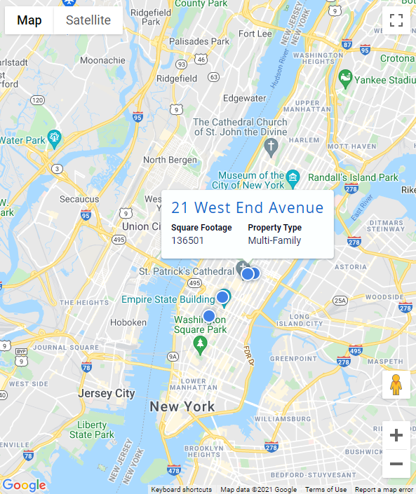 Map Pin Pop-Up Windows within DealCloud Real Estate Investment Software