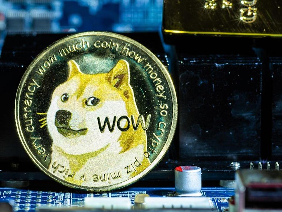 The price of dogecoin has skyrocketed in recent days following months of sustained gains (Getty Images)