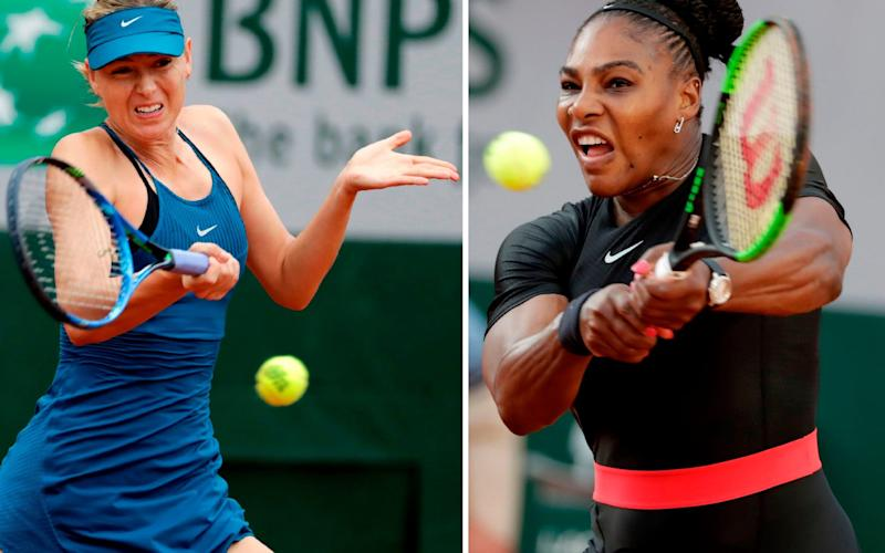 Maria Sharapova has departed with a career grand slam while Serena Williams is still chasing major No 24 - AFP