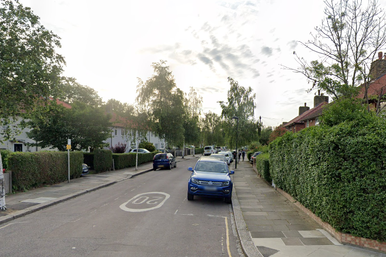 Mr Algar was discovered in a property in Nowell Road, Barnes (Google)