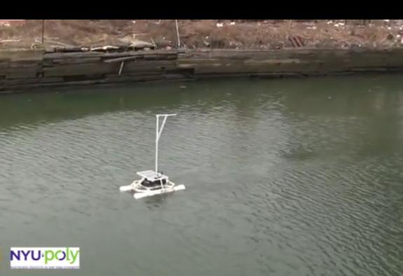 Can a Floating Robot Save a Polluted Canal?