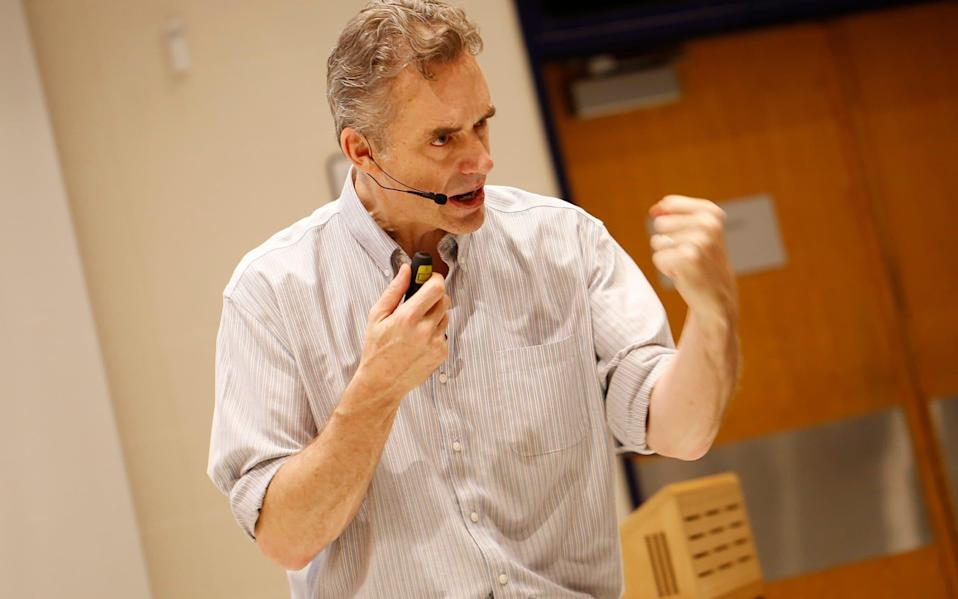 Jordan Peterson during a lecture - Rene Johnston/Toronto Star