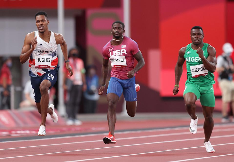 Trayvon Bromell advanced as a fast loser in the men's 100m Round 1 (Getty)