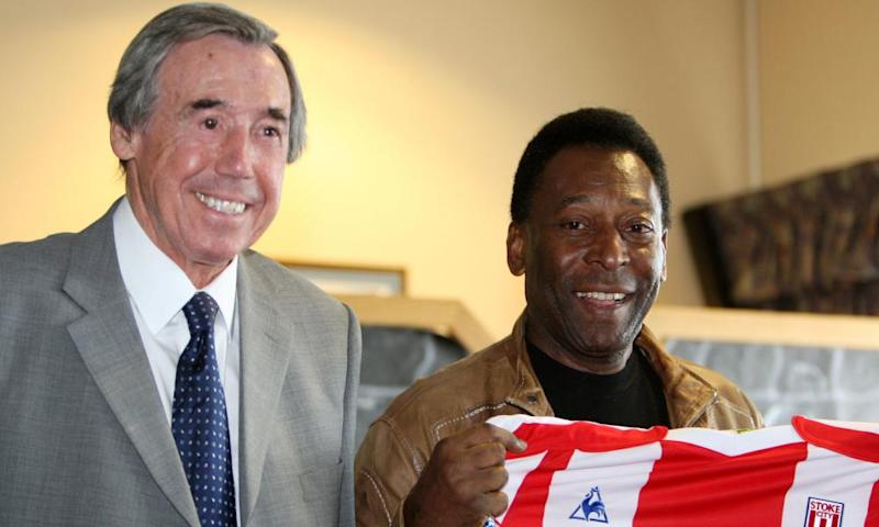 Gordon Banks and Pelé at a charity event