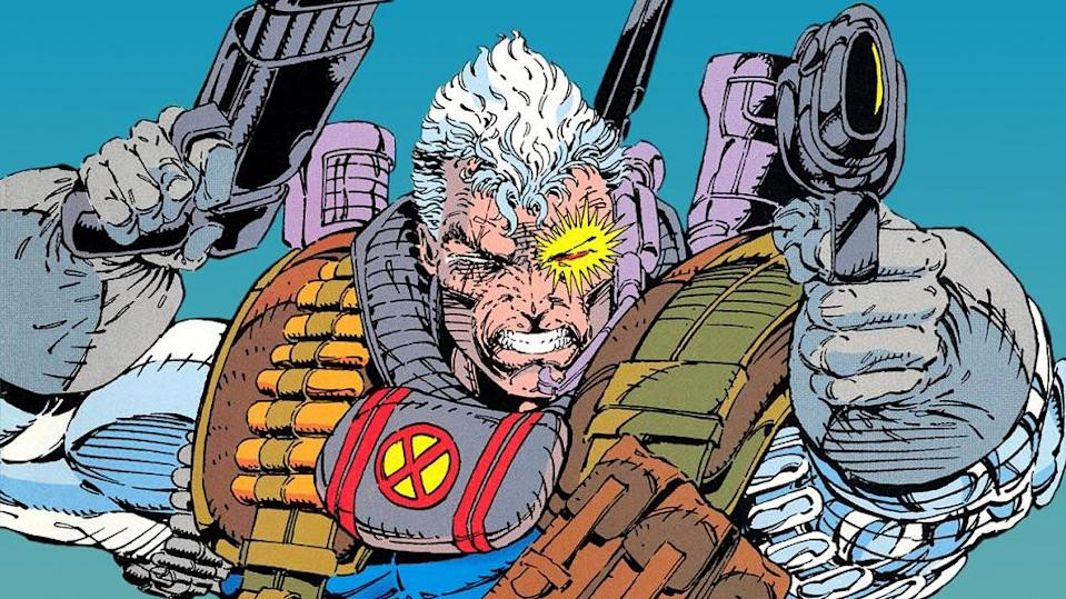 Cable, as drawn by Rob Liefeld (Marvel Comics)
