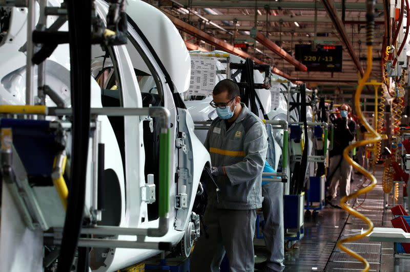 Renault ramps up production at its factory of Flins, near Paris