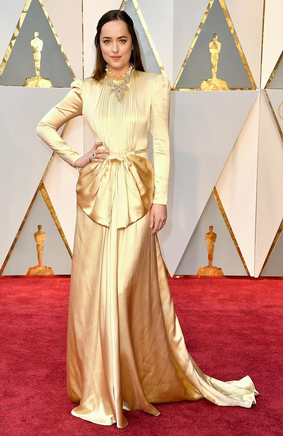 <p>Actor Dakota Johnson attends the 89th Annual Academy Awards at Hollywood & Highland Center on Feb. 26, 2017. (Photo by Steve Granitz/WireImage) </p>