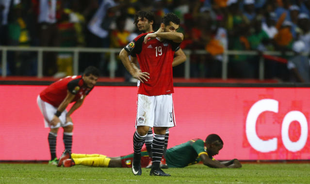 Football Soccer - African Cup of Nations - Final - Egypt v Cameroon - Stade d'Angondjé - Libreville, Gabon - 5/2/17 Egypt's Abdallah El Said looks dejected after the game Reuters / Amr Abdallah Dalsh Livepic
