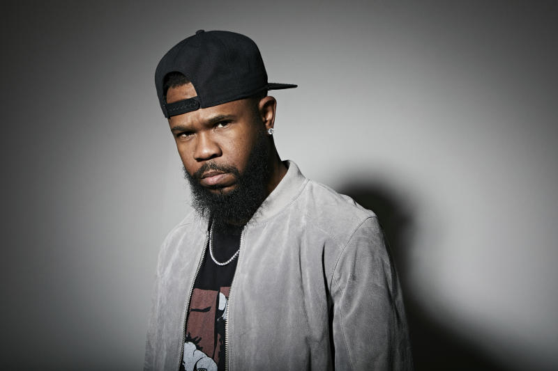 """This Nov. 18, 2019 photo shows Grammy award-winning rapper Chamillionaire posing for a portrait in New York. A co-founder of popular underground Texas group the Color Changin' Click, is best known for his hit """"Ridin Dirty."""" (Photo by Matt Licari/Invision/AP)"""