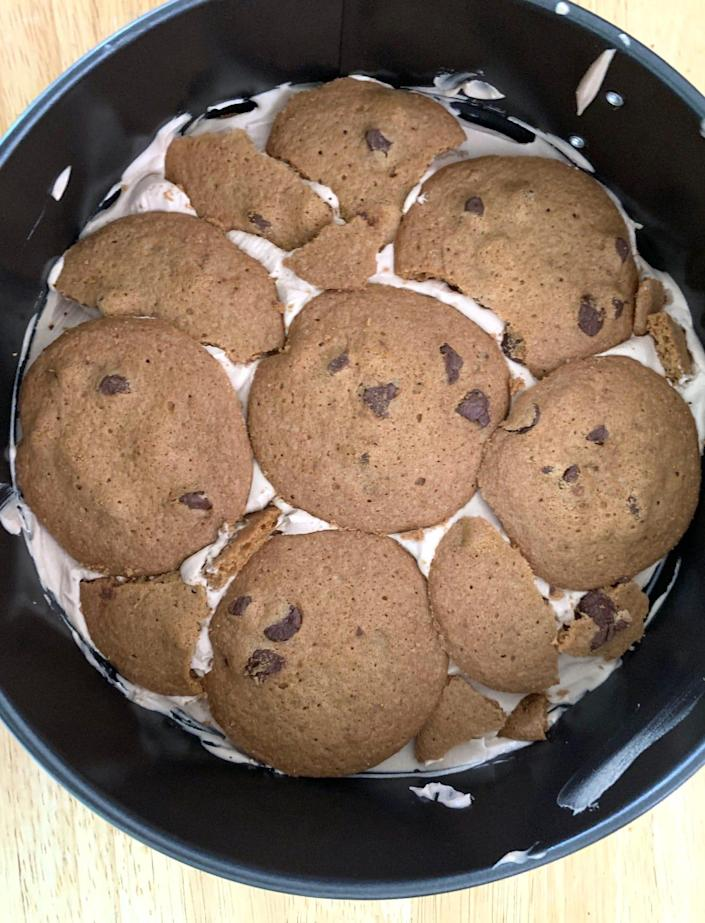 Cookies and filling for Ina Garten's mocha icebox cake