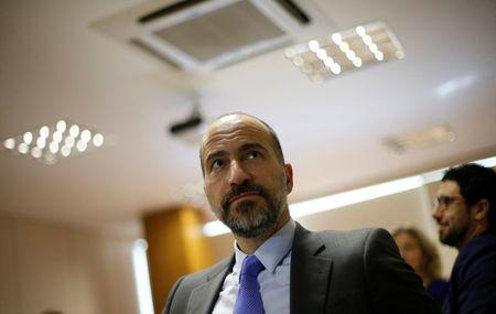 The chief executive of Uber Technologies Inc, Dara Khosrowshahi attends a meeting with Brazilian Finance Minister Henrique Meirelles (not pictured) in Brasilia, Brazil October 31, 2017. REUTERS/Adriano Machado