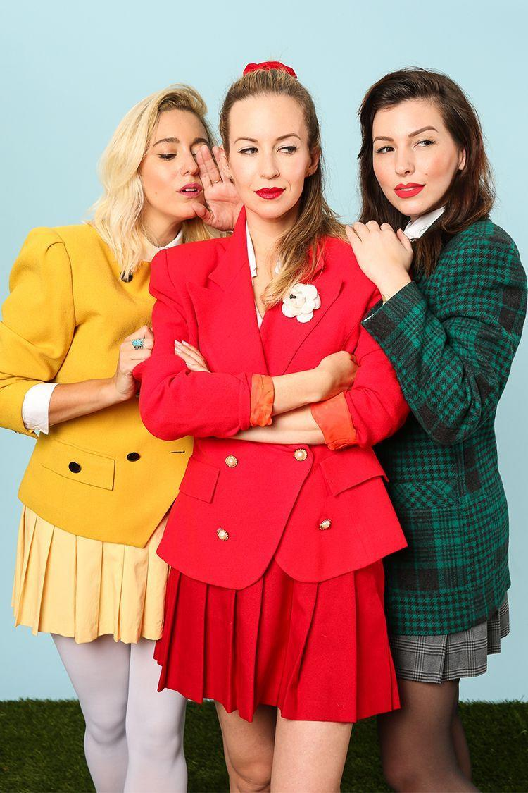 """<p>Forget Regina, Gretchen, and Karen—this Halloween, it's all about the Heathers. Channel that original mean girl energy from the 1980s dark comedy that made popular cliques look so cool with those classy pinstripe blazers and pleated skirts. Well, cool until their untimely demise. """"How very,"""" indeed. <br></p><p><a class=""""link rapid-noclick-resp"""" href=""""https://www.amazon.com/Heathers-Musical-Veronica-Sawyer-X-Small/dp/B07CYMP6VZ?tag=syn-yahoo-20&ascsubtag=%5Bartid%7C2141.g.33458919%5Bsrc%7Cyahoo-us"""" rel=""""nofollow noopener"""" target=""""_blank"""" data-ylk=""""slk:SHOP COSTUME"""">SHOP COSTUME</a><br></p><p><a href=""""http://keikolynn.com/2016/10/heathers-group-costume-for-halloween/"""" rel=""""nofollow noopener"""" target=""""_blank"""" data-ylk=""""slk:Get the tutorial at Keiko Lynn »"""" class=""""link rapid-noclick-resp""""><em>Get the tutorial at Keiko Lynn »</em></a></p>"""