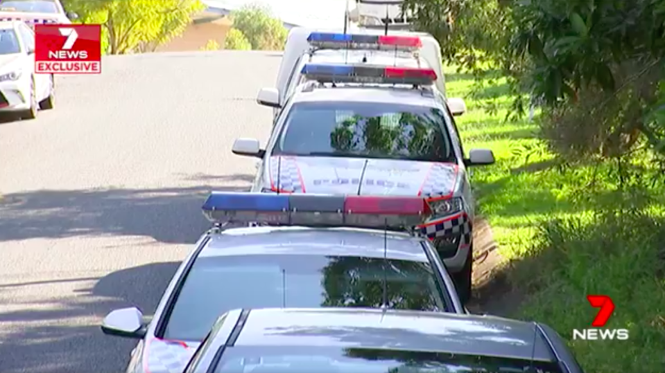 Witnesses said police cars and ambulances lined the street. Source: 7 News