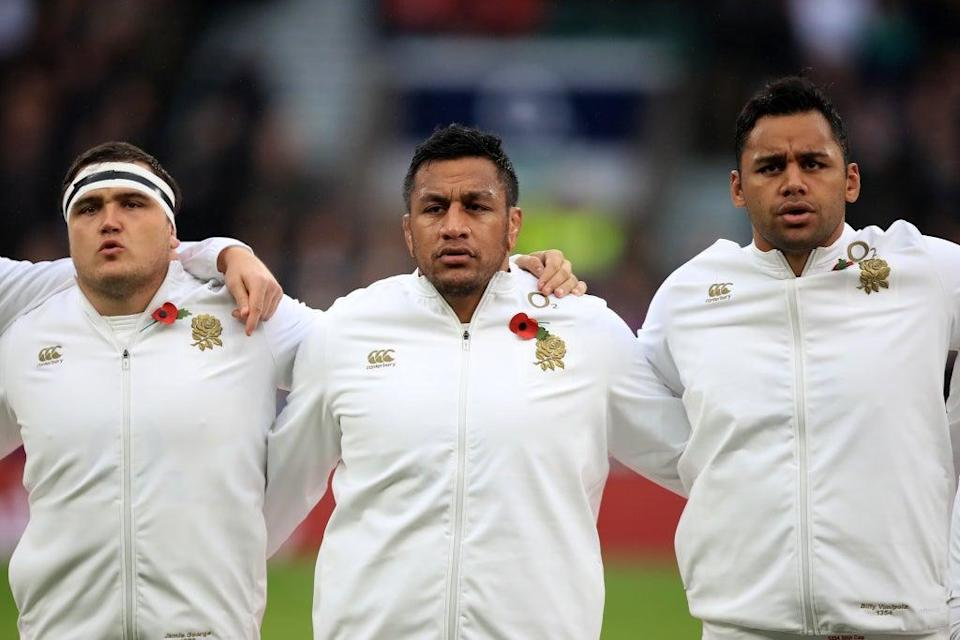 Saracens trio Jamie George (left), Mako Vunipola (middle) and Billy Vunipola (right) have been dropped by England (Mike Egerton/PA) (PA Wire)