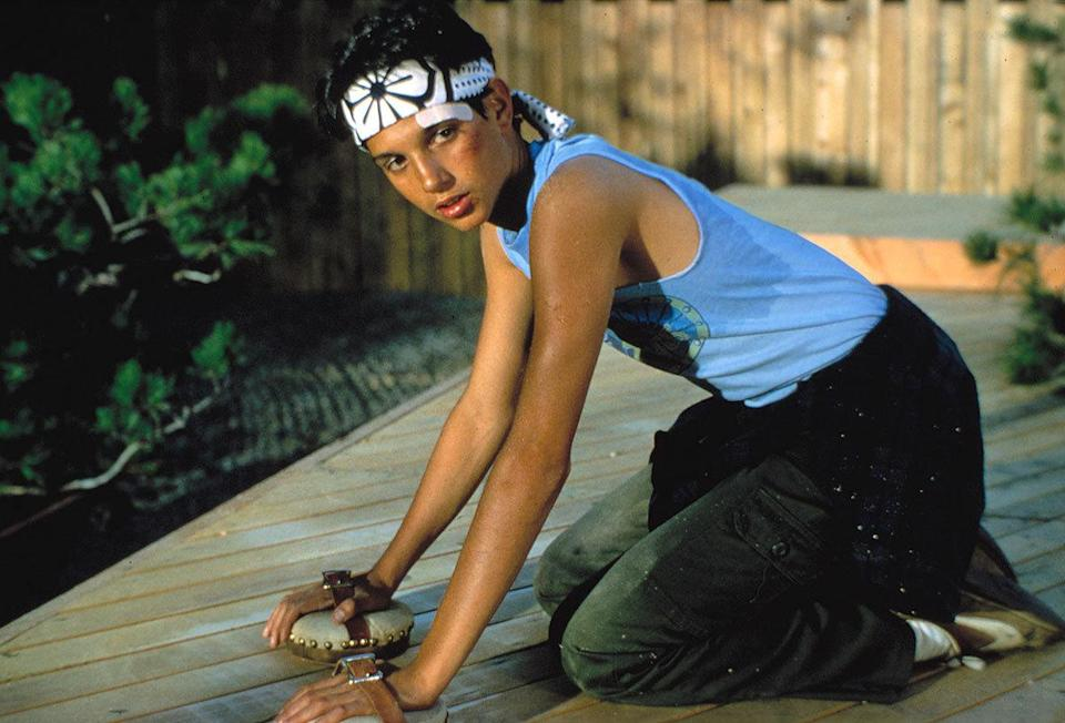 Ralph Macchio as Daniel LaRusso in 'The Karate Kid' (1984) Real age at the time: 23 - Character age: 16