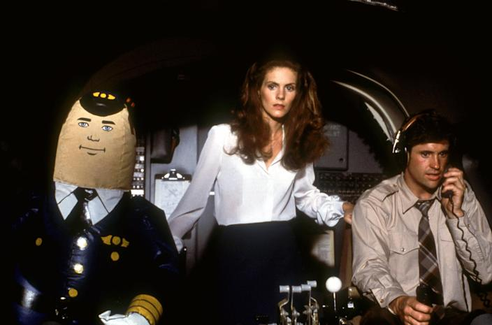 Otto, Julie Hagerty and Robert Hays in <em>Airplane!</em>. (Photo: Paramount/courtesy Everett Collection)