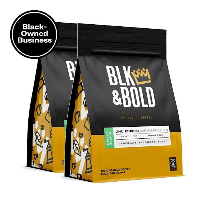 "<p><strong>BLK & Bold</strong></p><p>amazon.com</p><p><strong>$28.00</strong></p><p><a href=""https://www.amazon.com/dp/B07VB1NQ9X?tag=syn-yahoo-20&ascsubtag=%5Bartid%7C10048.g.34865745%5Bsrc%7Cyahoo-us"" rel=""nofollow noopener"" target=""_blank"" data-ylk=""slk:Shop Now"" class=""link rapid-noclick-resp"">Shop Now</a></p><p>If you're gonna have a coffee mug, you need to fill it with something. This Black-owned coffee brand whips up delightful brews like this single-origin light roast; plus, as a certified B-corporation, they donate 5% of their profits to support at-risk youth.</p>"