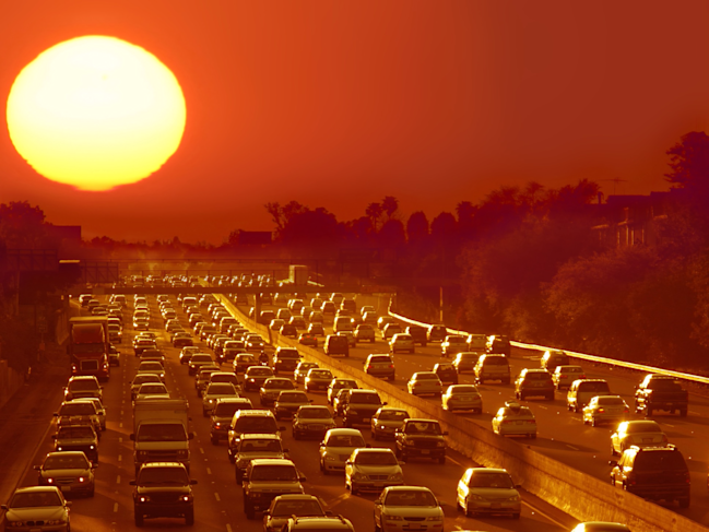 cars vehicles traffic jam gridlock road highway los angeles shutterstock_5707669