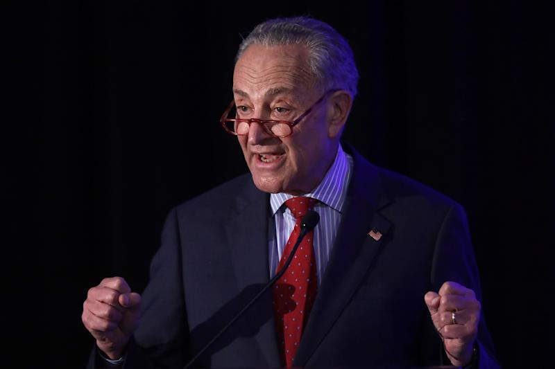 """Steven Menashi is """"one of the most contemptible nominees to come before the Senate in all my time in this body,"""" said Senate Minority Leader Chuck Schumer (D-N.Y.). (Photo: Alex Wong via Getty Images)"""
