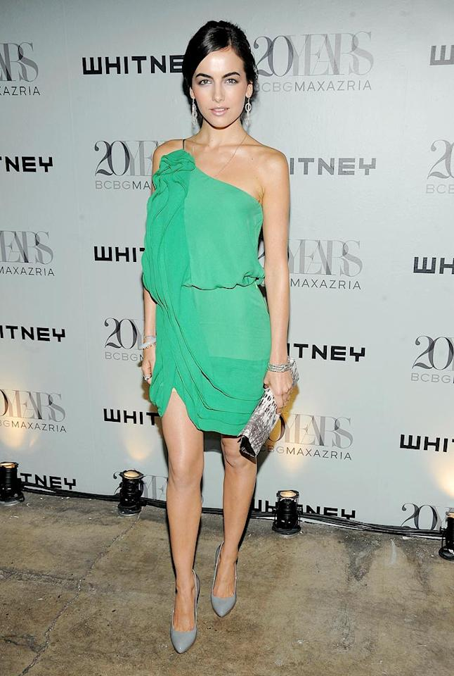 """Joe Jonas' gal pal Camilla Belle looked absolutely stunning in a chiffon one-shouldered Max Azria mini. Jamie McCarthy/<a href=""""http://www.wireimage.com"""" target=""""new"""">WireImage.com</a> - June 16, 2009"""