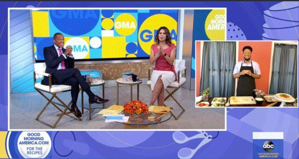 PHOTO: TikTok creator Mike Spurlock, aka Spurweezy Eats, joined 'GMA' to make his homemade pasta. (ABC News)