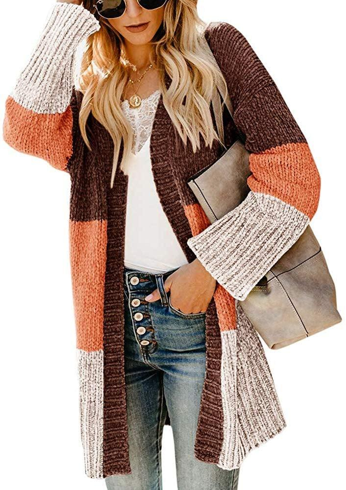 <p>This <span>Ferbia Colorblock Cardigan </span> ($29-$34) is another customer favorite.</p>