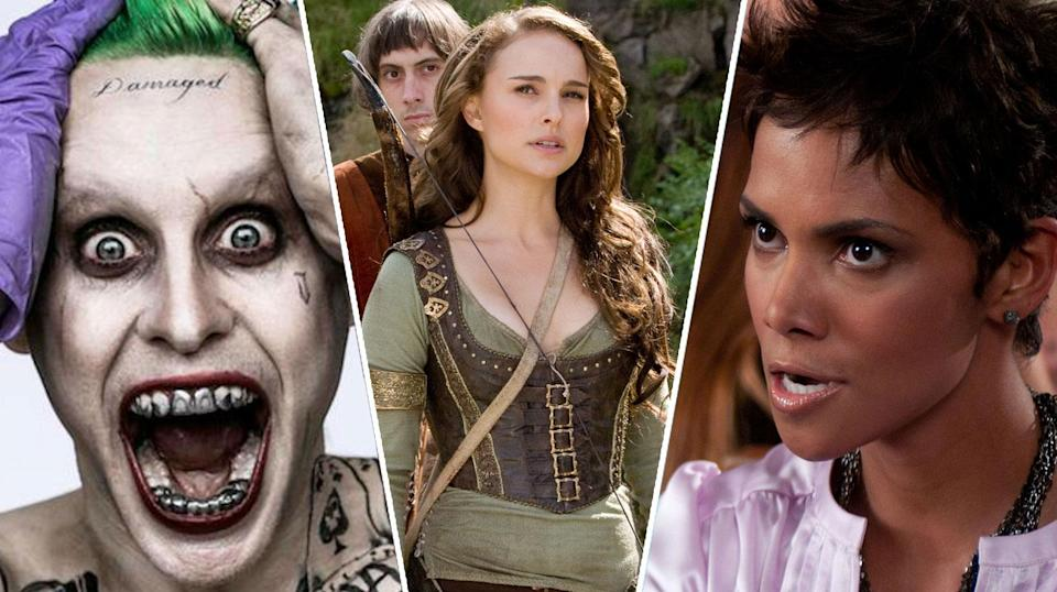 Jared Leto in Suicide Squad, Natalie Portman in Your Highness, Halle Berry in Movie 43