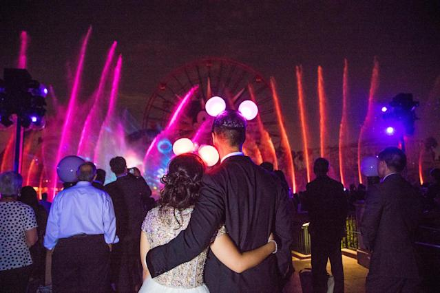 Guests got to watch the 'World of Color' show from a special area. (White Rabbit Photo Boutique)