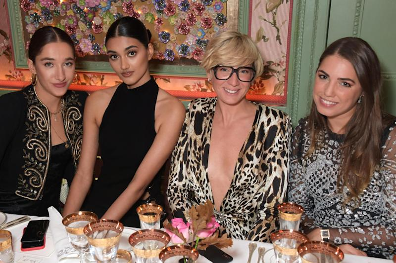 (L to R) Bella Tilbury, Neelam Gill, Casadei Global Marketing and Communications Director Arianna Casadei and Amber Le Bon (Dave Benett/Getty Images for Cas)