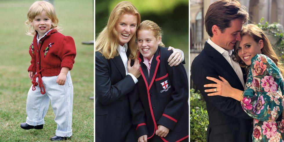 """<p>Princess Beatrice of York is the eldest daughter of Prince Andrew and <a href=""""https://www.harpersbazaar.com/celebrity/latest/a22161824/sarah-ferguson-charity-work-princess-beatrice-eugenie/"""" target=""""_blank"""">Sarah Ferguson</a> and sister to Princess Eugenie. She is also Queen Elizabeth II's fifth grandchild and eighth in line for the throne. She's best known for <a href=""""https://www.harpersbazaar.com/celebrity/red-carpet-dresses/a21724187/princess-eugenie-princess-beatrice-royal-ascot-serpentine-party/"""" target=""""_blank"""">her bold style</a><span class=""""redactor-unlink""""></span>, her close relationship with sister Princess Eugenie, her <a href=""""https://www.harpersbazaar.com/celebrity/latest/a20084733/princess-beatrice-vacation-karlie-kloss-ellie-goulding/"""" target=""""_blank"""">A-list friend group</a>, and her extensive charitable work. Here, we're looking back at her life in photos, from birth to <a href=""""https://www.harpersbazaar.com/celebrity/latest/a33346907/princess-beatrice-marries-edoardo-mapelli/"""" target=""""_blank"""">her secret wedding to Edoardo Mapelli Mozzi</a>.</p>"""
