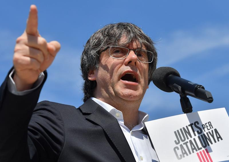 Former Catalan premier Carles Puigdemont, pictured in May this year (AFP via Getty Images)