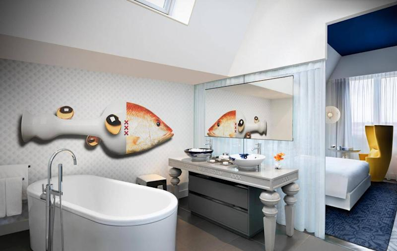 The interiors at Andaz Amsterdam are designed by Marcel Wanders