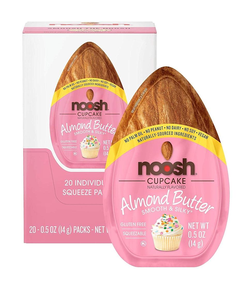 <p>These <span>Noosh Almond Butter Cupcake Packets</span> ($14 for 20) have 90 calories and three grams of carbs per serving. So basically, we just found our new go-to snack.</p>