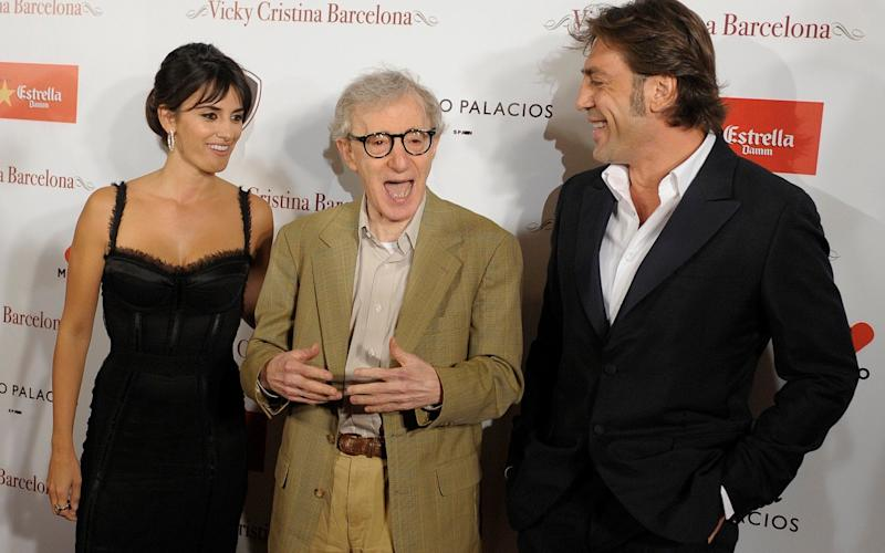Penelope Cruz and Javier Bardem starred in Woody Allen's 2008 film Vicky Cristina Barcelona - AP