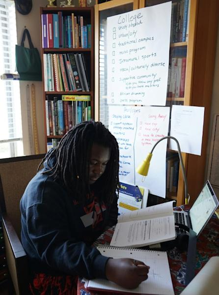 Zion, 17, one of a growing number of homeschooled African-American children, takes courses at a science, technology and math-focused program for homeschoolers