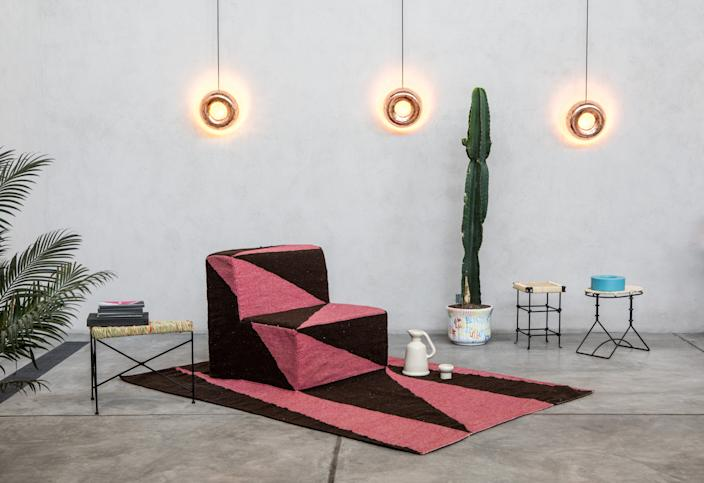 "<h1 class=""title"">Fabien Cappello</h1> <div class=""caption""> Fabien Cappello collaborated with local artisans on this rug-slash-chair and other items for Room With A View, an environment he created in 2017 for Dos Casas Hotel's project space, The Garage. </div> <cite class=""credit"">Photo: Courtesy of Fabien Cappello</cite>"