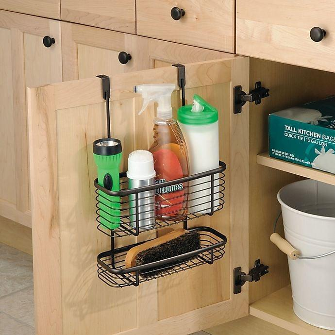 <p>Store cleaners and more in this <span>iDesign Axis Over the Cabinet Basket Organizer</span> ($23). It'll keep your cabinets neat and tidy.</p>