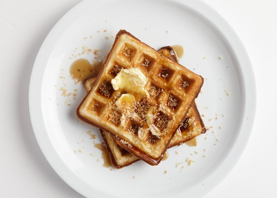 """<a href=""""https://www.bonappetit.com/recipe/toasted-coconut-waffles?mbid=synd_yahoo_rss"""" rel=""""nofollow noopener"""" target=""""_blank"""" data-ylk=""""slk:See recipe."""" class=""""link rapid-noclick-resp"""">See recipe.</a>"""